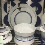 NAVY AND WHITE 4 PERSON DINNER SET S&P INK DESIGN